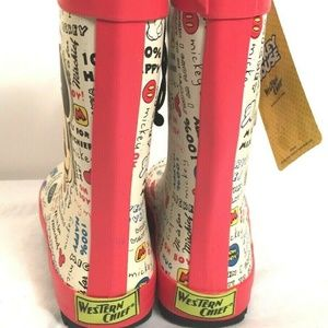 Disney Shoes - Disney Mickey Mouse Kids Rain Boots Size 11/12